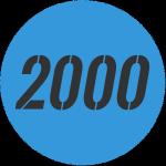 illusztráció a 2000-es szám kék körben