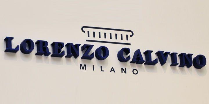 Lorenzo calvino logója habbetűből