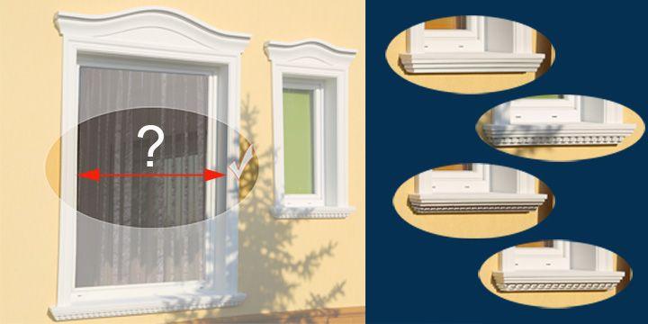 Különböző polisztirol díszítések ablakpárkányként.