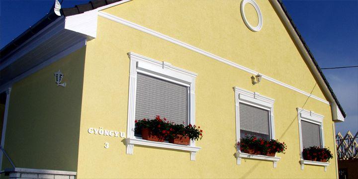 Homlokzati díszlécek, stukkók ablak és homlokzat díszítéshez.